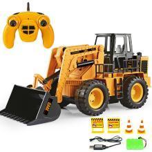 2.4G電動遙控工程車模型 六通道可充電仿真推土車 遙控鏟車玩具HY-SS1076808