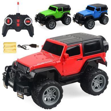 樂心多 電動玩具兒童四通遙控車 1:18越野車賽車模型玩具可充電玩具 ykdd21