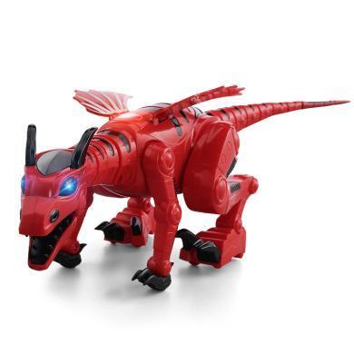 鋒源電動行走恐龍帶燈光音效會走路仿真霸王龍動物模型玩具