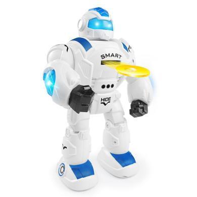 智能對戰遙控機器人感應跳舞編程發射飛碟多功能益智兒童玩具