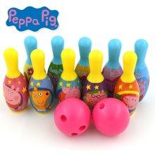 小猪佩奇粉红猪小妹佩佩猪可爱卡通儿童保龄球10只装