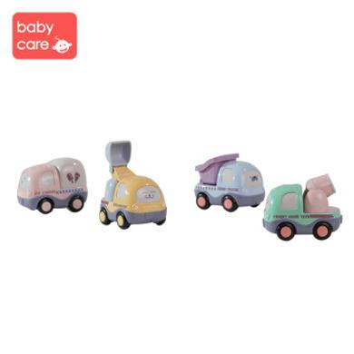 babycare兒童玩具車模型工程車男孩回力車慣性小汽車1-3歲寶寶早教益智玩具手推車