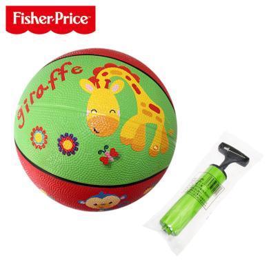 美國Fisher-Price費雪卡通玩具球F0515小皮球拍拍球兒童籃球幼兒園專用嬰兒寶寶足球球類玩具男孩-長勁鹿卡通圖案