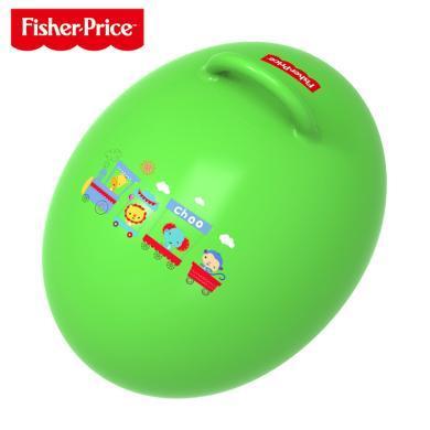 费雪蛋形球跳跳球羊角球儿童?#30452;?#29699;蹦蹦球宝宝充气玩具鸡蛋球
