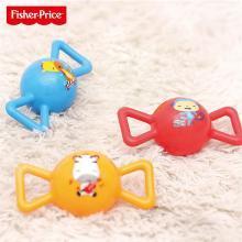 费雪婴儿玩具球早教摇铃球充气弹力小皮球宝宝手抓4寸糖果拉拉球