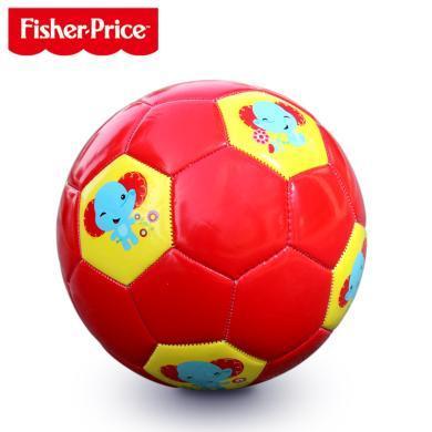 美國Fisher-Price費雪兒童足球F0910H橡膠拍拍球兒童球幼兒園專用嬰兒寶寶足球球類玩具男孩
