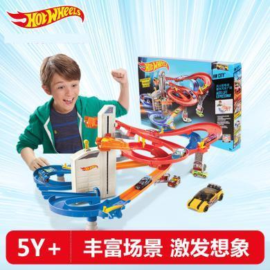 風火輪軌道電動都市汽車廣場軌道 小跑車玩具多層賽道兒童玩具