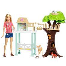 Barbie芭比娃娃宠物套装女孩玩具礼盒之动物诊所套装FCP78