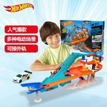 风火轮轨道Hotwheels电动多功能汽车世界轨道套装儿童玩具男孩