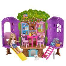 芭比娃娃Barbie芭比小凯莉树屋 女孩玩具公主生日礼物FPF83