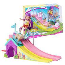 芭比娃娃套装小凯莉娃娃过家家套装女孩礼物玩具滑板公园