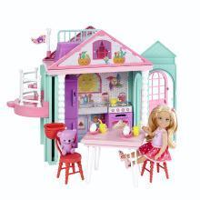 芭比娃娃过家家场景小凯莉休闲屋生日礼物女孩玩具DWJ50