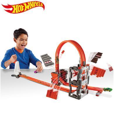 风火轮百变酷炫撞击轨道火辣小跑车玩具汽车赛道儿童益智玩具男孩