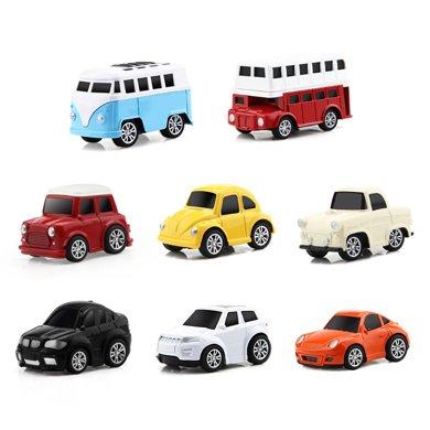 益米8只套裝兒童合金玩具車 男孩回力車慣性小汽車 寶寶迷你小車