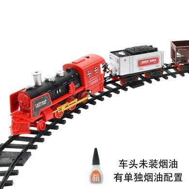 电动?#25226;?#36965;控轨道火车 仿真模型 可充电经典蒸汽火车儿童玩具套装SS333-71