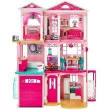 Barbie芭比梦想豪宅女孩梦想礼物玩具 芭比娃娃套装大礼盒FFY84