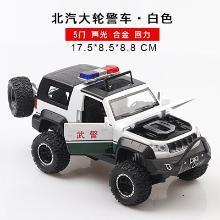 車致 仿真戰狼越野合金消隊警車模型 兒童聲光北汽吉普玩具車DJ-CZ033J