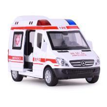 特警車合金車仿真救護車模型聲光回力兒童益智玩具車DJ-8909B