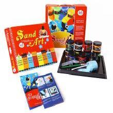 美乐 儿童沙画礼盒 无毒彩砂沙画套装安全DIY手工绘画益智玩具