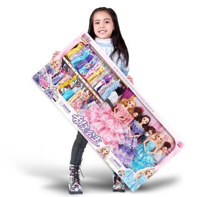 樂心多 迪諾芭比特別換裝洋娃娃套裝大禮盒公主女孩過家家兒童玩具 yrwj12