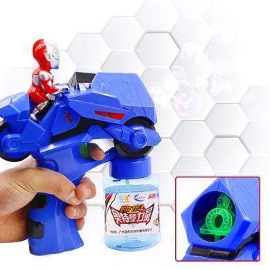 萌牛星 新款儿童奥特曼泡泡枪玩具广场户外秋游玩具