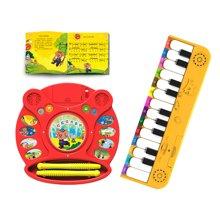 巨妙立玩具早教系列 组合装 红色鼓+橙色国学琴