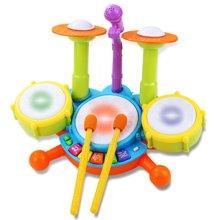小才童儿童手拍鼓宝宝拍拍鼓灯光音乐故事旋转早教启蒙鼓玩具CY-6002A46YZQD