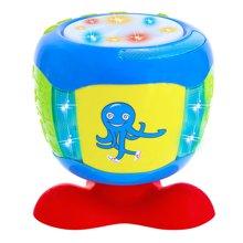 婴侍卫婴幼儿益智玩具手拍鼓动感音乐章鱼拍拍鼓早教机颜色随机YSWA322-9