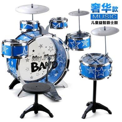 兒童玩具爵士鼓套裝腳踏大號架子鼓6鼓3嚓樂器玩具YZDZ1688