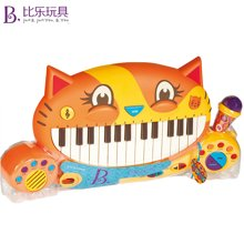比乐B.Toys大嘴猫琴早教益智宝宝学唱歌多功能电子玩具礼盒装