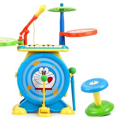 哆啦A夢架子鼓玩具兒童 初學者 兒童爵士敲打鼓1-3-6歲寶寶樂器