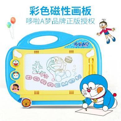 哆啦a夢彩色磁性畫畫板兒童寫字板涂鴉板筆寶寶玩具1-3歲