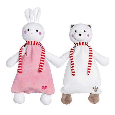 澳樂嬰兒安撫巾毛絨玩具玩偶布藝安撫手偶寶寶口水巾0-1歲陪睡