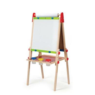 Hape儿童升降画架 双面画板3-6岁宝宝写字板实木益智玩具一面磁性