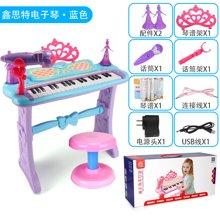 儿童多功能电子琴女孩玩具琴麦克风钢琴宝宝玩具1-3-6岁XST-S1001