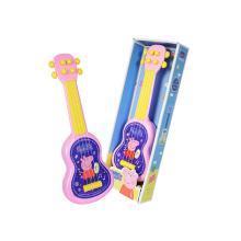 小猪佩奇儿童玩具吉他仿真可弹奏男女迷你小乐器宝宝小玩具初学者