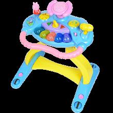 小猪佩奇婴幼儿童学步车手推车7-18个月防侧翻多功能音乐玩具宝宝
