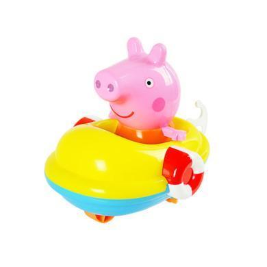 小豬佩奇滑行車回力船寶寶兒童洗澡玩具沙灘玩具戲水玩具回力車