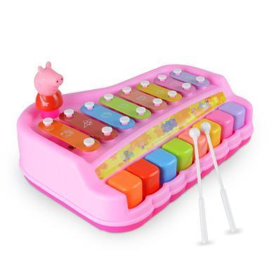 小猪佩奇敲琴益智木琴婴儿童八音敲琴8个月音乐玩具琴宝宝手敲琴