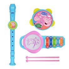 小猪佩奇手敲琴竖笛摇铃鼓组合儿童迷你音乐器组合婴幼儿早教礼物