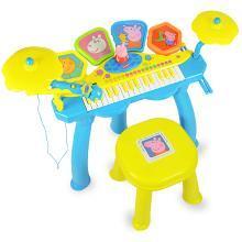 小猪佩奇儿童电子琴鼓初学者男女孩架子鼓宝宝钢琴1-3-6岁乐器玩具