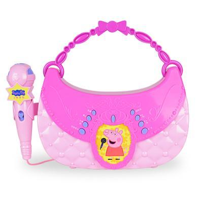 小豬佩奇兒童唱歌麥克風卡拉ok女孩禮物玩具小豬佩奇寶寶話筒唱歌機點唱機