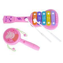 小猪佩奇敲琴拨浪鼓组合迷你儿童益智婴幼儿宝宝玩具琴乐器6个月