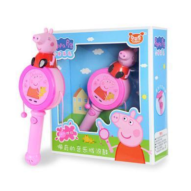 小猪佩奇婴儿拨浪鼓宝宝手摇鼓音乐玩具12个月?#20449;?#23401;益智儿童玩具