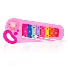 小猪佩奇婴幼儿童手敲琴8个月男孩女宝宝益智音乐玩具1-2-3周岁八音小木琴