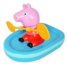 小猪佩奇划船皮划艇儿童宝宝洗澡玩具婴儿戏水花洒抖音佩琪贝芬乐