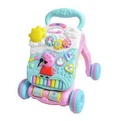 小豬佩奇嬰幼兒童學步車手推車7-18個月防側翻多功能音樂玩具寶寶