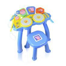 小猪佩奇音乐鼓儿童初学宝宝电子鼓爵士鼓敲打鼓1-3-6佩琪玩具