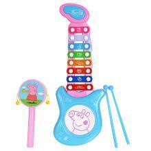 小猪佩奇八音琴儿童手敲琴宝宝婴儿益智敲打音乐手摇鼓组合玩具