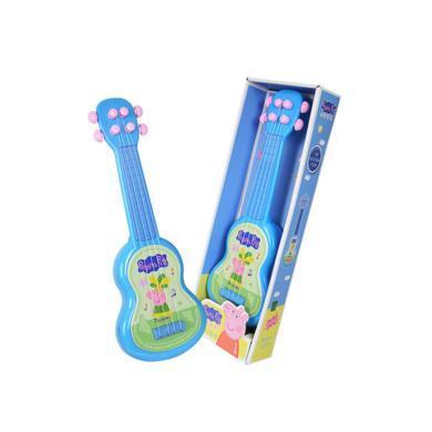 小豬佩奇兒童玩具吉他仿真可彈奏男女迷你小樂器寶寶小玩具初學者